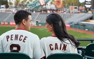 Wish Wedding - Nisha & Joe Engagement Photos (SF Giants)
